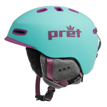 Pret Lyric Snowsport Helmet (For Women) in Rubber Teal - Closeouts