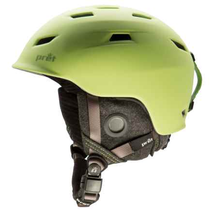 Pret Shaman Ski Helmet in Rubber Crystal Green - Closeouts