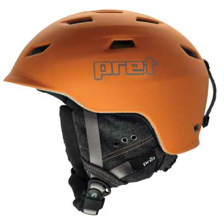 Pret Shaman Ski Helmet in Rubber Habanero - Closeouts