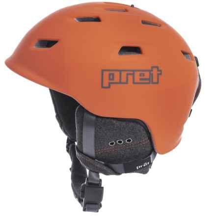 0e5a340b77 Pret Shaman Ski Helmet in Rubber Pret Orange - Closeouts