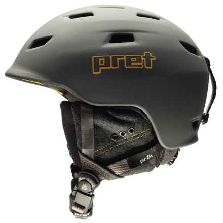 Pret Shaman Ski Helmet in Rubber Rock Grey - Closeouts