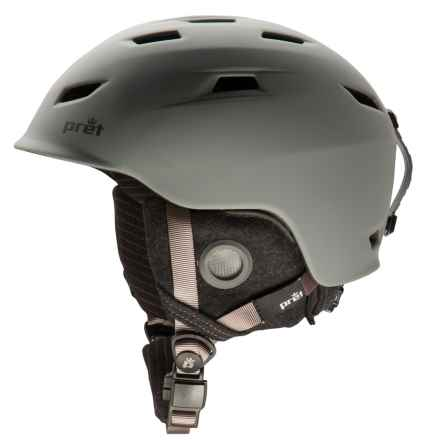 Pret Shaman Ski Helmet in Rubber Smoked Grey - Closeouts
