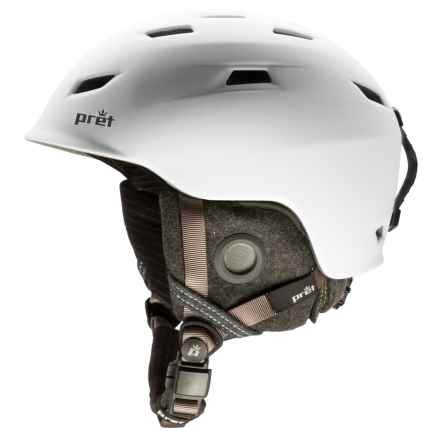 Pret Shaman Ski Helmet in Rubber White - Closeouts
