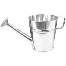 "Pride Garden Products Galvanized Metal Watering Can Planter - 7"" in Silver Galvanized Metal - Closeouts"