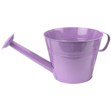 "Pride Garden Products Metal Watering Can Planter - 10"" in Lavender - Closeouts"