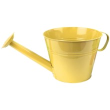 "Pride Garden Products Metal Watering Can Planter - 10"" in Squash Yellow - Closeouts"