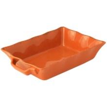 """Prima Design USA Rectangular Stoneware Baking Dish - 12"""" in Paprika - Closeouts"""