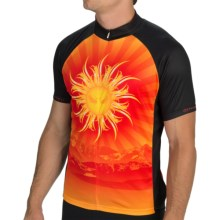 Primal Wear Baja Cycling Jersey - Zip Neck, Short Sleeve (For Men) in Tribal Sun Rays - Closeouts