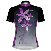Primal Wear Lanai Cycling Jersey - Full Zip, Short Sleeve (For Women) in Black/Purple - Closeouts