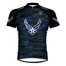 Primal Wear U.S. Air Force Engage Cycling Jersey - Zip Neck, Short Sleeve (For Men) in Navy/Black - Closeouts