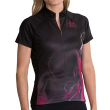 Primal Wear Velia Cycling Jersey - Zip Neck, Short Sleeve (For Women) in Black/Pink - Closeouts