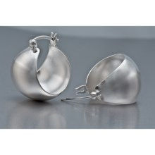 Prime Art Sterling Silver Hoop Earrings in Sterling Silver - Closeouts