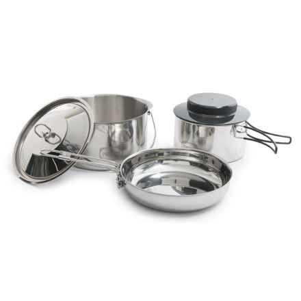 Primus Stainless Steel Gourmet Deluxe Cook Set in See Photo - Closeouts