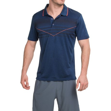 Prince Chest Stripe Polo Shirt Short Sleeve (For Men)