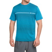 Prince Horizontal Stripe T-Shirt - Crew Neck, Short Sleeve (For Men) in Blue Heather - Closeouts