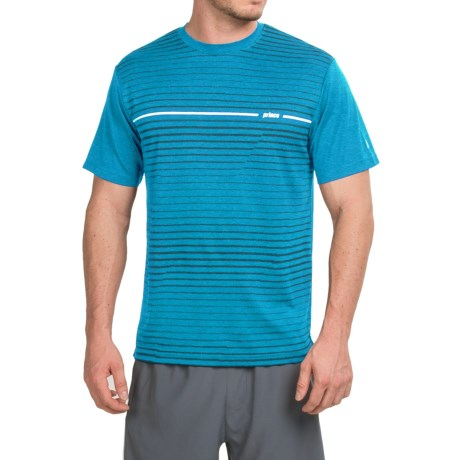 Prince Horizontal Stripe T Shirt Crew Neck, Short Sleeve (For Men)
