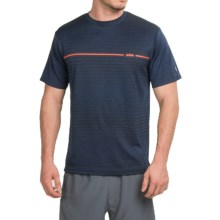 Prince Horizontal Stripe T-Shirt - Crew Neck, Short Sleeve (For Men) in Navy Heather - Closeouts