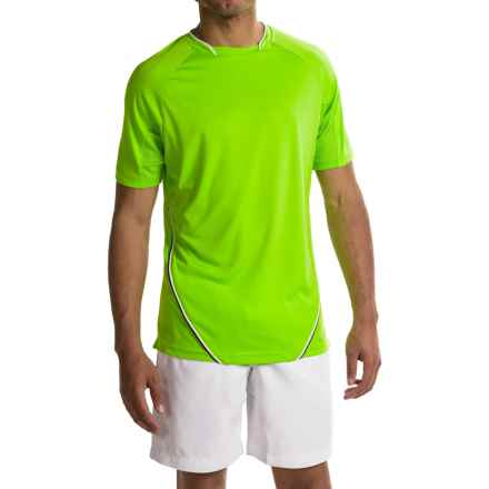 Prince Mesh Panel T-Shirt - UPF 40, Short Sleeve (For Men) in Lime White - Closeouts