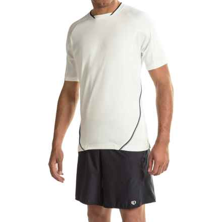 Prince Mesh Panel T-Shirt - UPF 40, Short Sleeve (For Men) in White Black - Closeouts