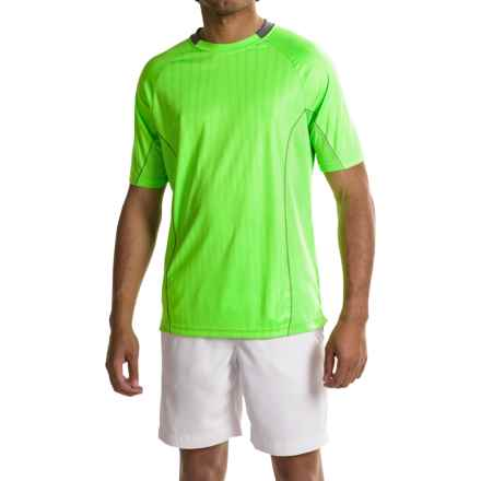 Prince Open-Hole Mesh T-Shirt - UPF 40, Short Sleeve (For Men) in Lime/Asp/White - Closeouts