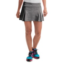 Prince Pleated Space-Dye Skort - Built-In Shorts (For Women) in Grey Heather - Overstock