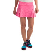 Prince Pleated Space-Dye Skort - Built-In Shorts (For Women) in Hot Pink Heather - Overstock
