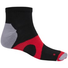 Prince Protect Socks - Quarter Crew (For Men) in Black/Red - Closeouts