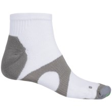 Prince Protect Socks - Quarter Crew (For Men) in White/Grey - Closeouts