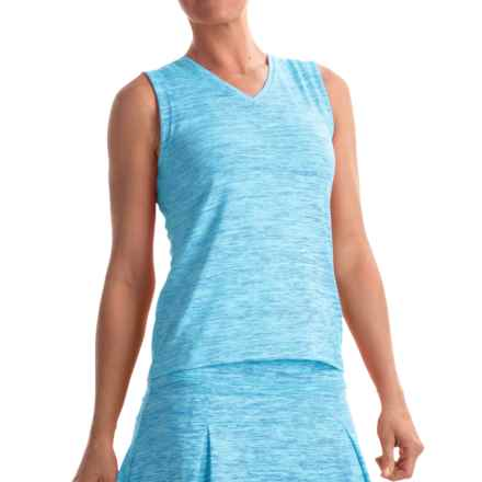 Prince Spaced-Dye Shirt - Sleeveless (For Women) in Turquoise Heather - Overstock