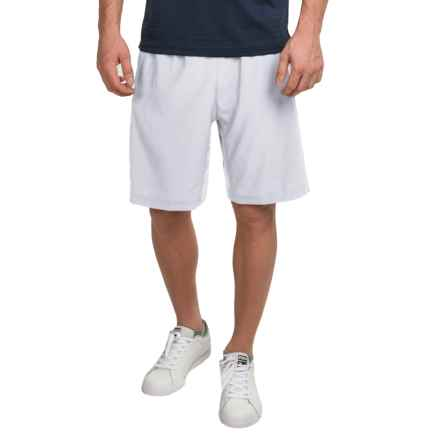 "Prince Stretch Woven 9"" Shorts (For Men) in White - Closeouts"