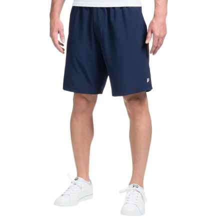"Prince Stretch-Woven Tennis Shorts - 9"" (For Men) in Navy/Red - Closeouts"