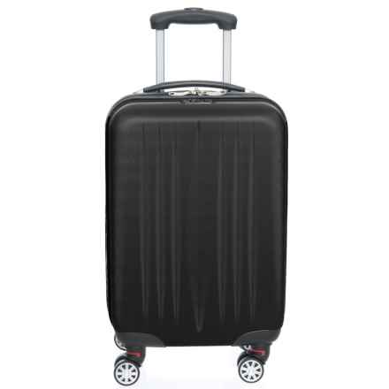 "Princess Traveller 21"" Dallas Power Box Carry-On Spinner Suitcase in Black - Closeouts"