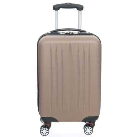 """Princess Traveller 21"""" Dallas Power Box Carry-On Spinner Suitcase in Champagne - Closeouts"""