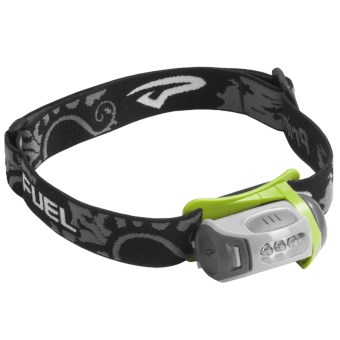 Princeton Tec Fuel LED Headlamp in Grey/Green