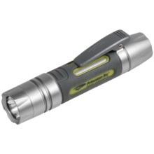 Princeton Tec Genesis Flashlight - Waterproof  in Silver/Green - Closeouts