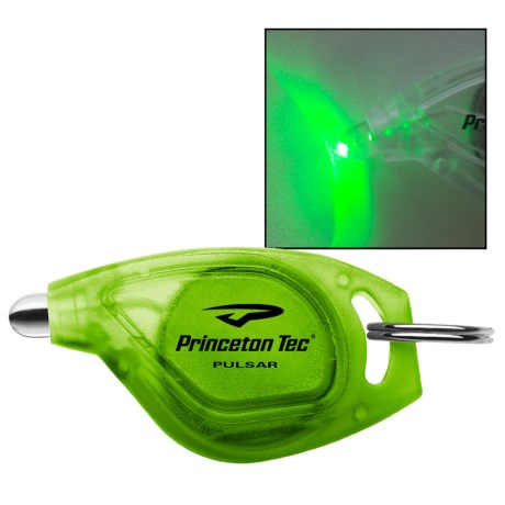 Princeton Tec Pulsar LED Keychain Light in Green/Green Led