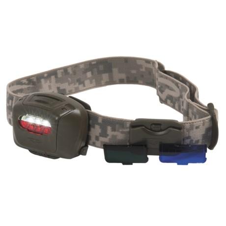 Princeton Tec Quad Tactical LED Headlamp in Olive Drab/Digital Olive