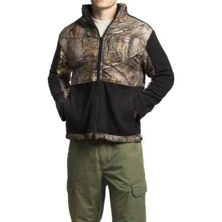 Printed Camo Jacket with Fleece Trim (For Men) in Realtree Xtra / Black - 2nds
