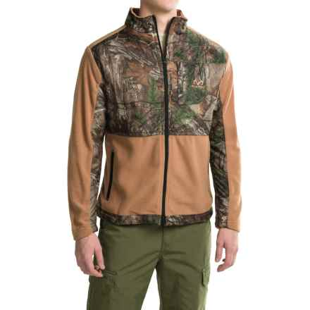 Printed Camo Jacket with Fleece Trim (For Men) in Realtree Xtra/Tan - 2nds