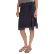 Printed Chiffon Stretch Skirt (For Women) in Black - 2nds