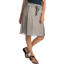 Printed Chiffon Stretch Skirt (For Women) in Grey - 2nds