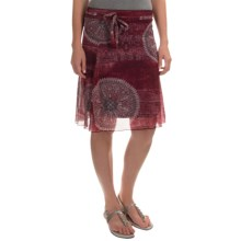 Printed Chiffon Stretch Skirt (For Women) in Red - 2nds
