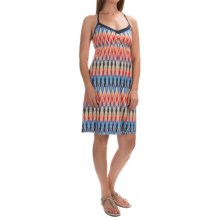 Printed Halter Dress - Sleeveless (For Women) in Warm Combo - 2nds