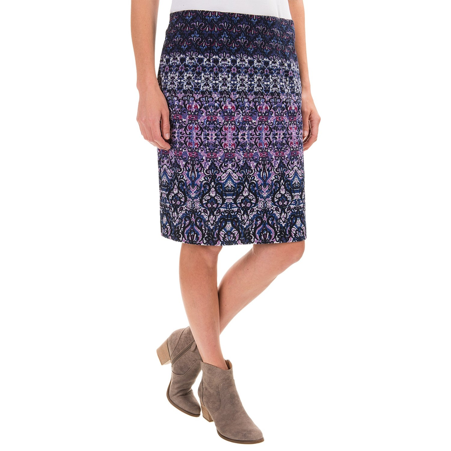printed knit skirt for save 51