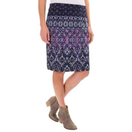 Printed Knit Skirt (For Women) in Violet - 2nds