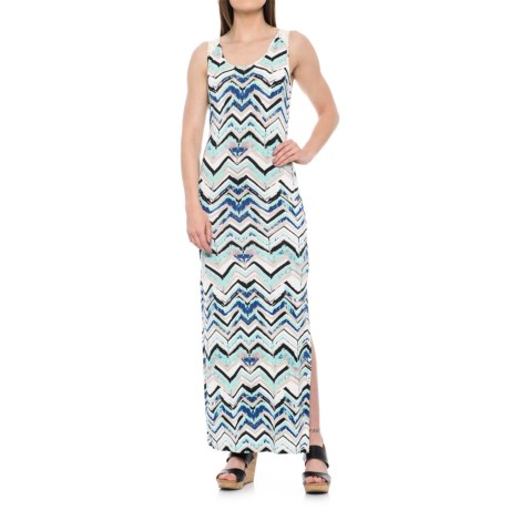 Printed Maxi Dress - Sleeveless (For Women)