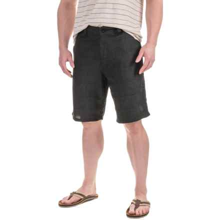 Printed Shorts (For Men) in Black Heather Check - 2nds