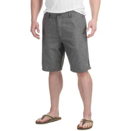 Printed Shorts (For Men) in Charcoal Heather Check - 2nds