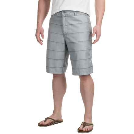 Printed Shorts (For Men) in Light Grey Pinhead/Stripe - 2nds