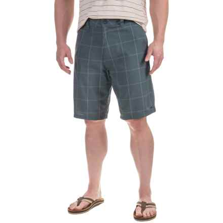 Printed Shorts (For Men) in Marcos Plaid Blue - 2nds